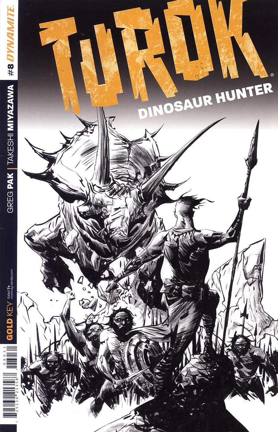 Turok Dinosaur Hunter Vol 2 #8 Cover D Incentive Jae Lee Black & White Cover