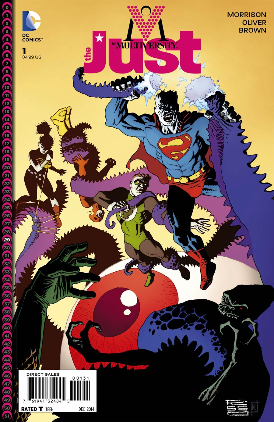 Multiversity The Just #1 Cover C Incentive Eduardo Risso Variant Cover