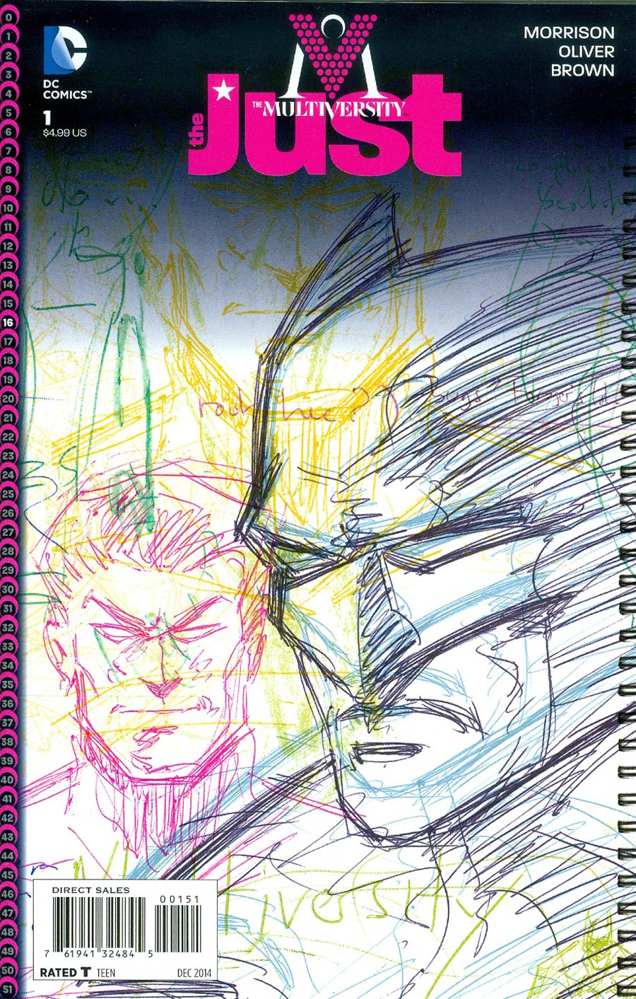Multiversity The Just #1 Cover E Incentive Grant Morrison Variant Cover
