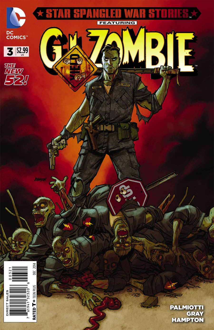 Star-Spangled War Stories Featuring GI Zombie #3 Cover B Incentive Dave Johnson Variant Cover