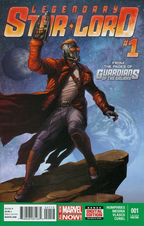 Legendary Star-Lord #1 Cover L 3rd Ptg Steve McNiven Variant Cover