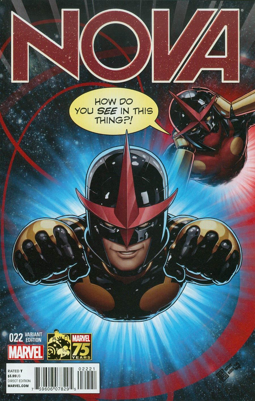 Nova Vol 5 #22 Cover B Incentive Deadpool 75th Anniversary Photobomb Variant Cover