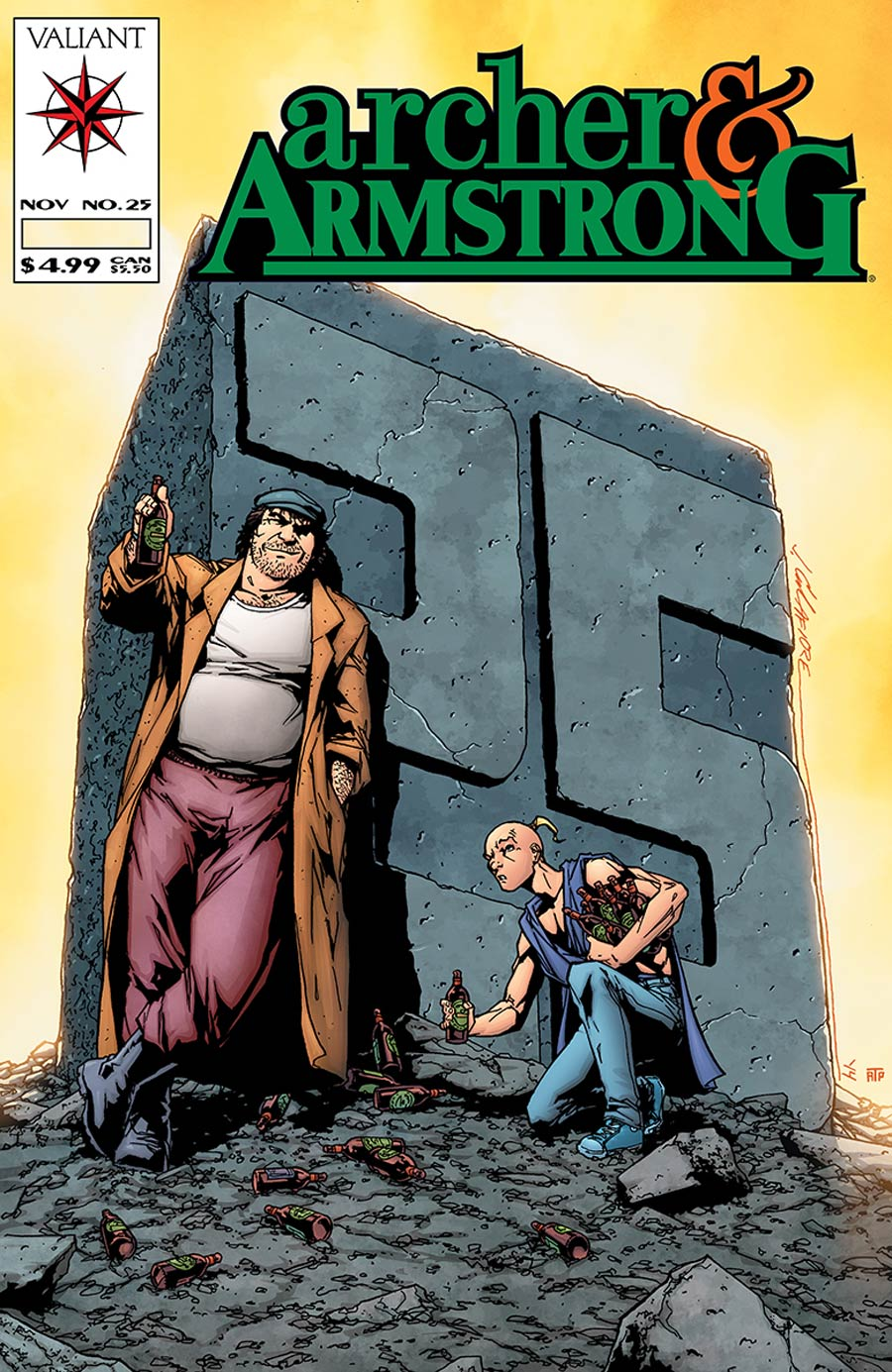 Archer & Armstrong Vol 2 #25 Cover D Incentive Jim Calafiore Throwback Variant Cover