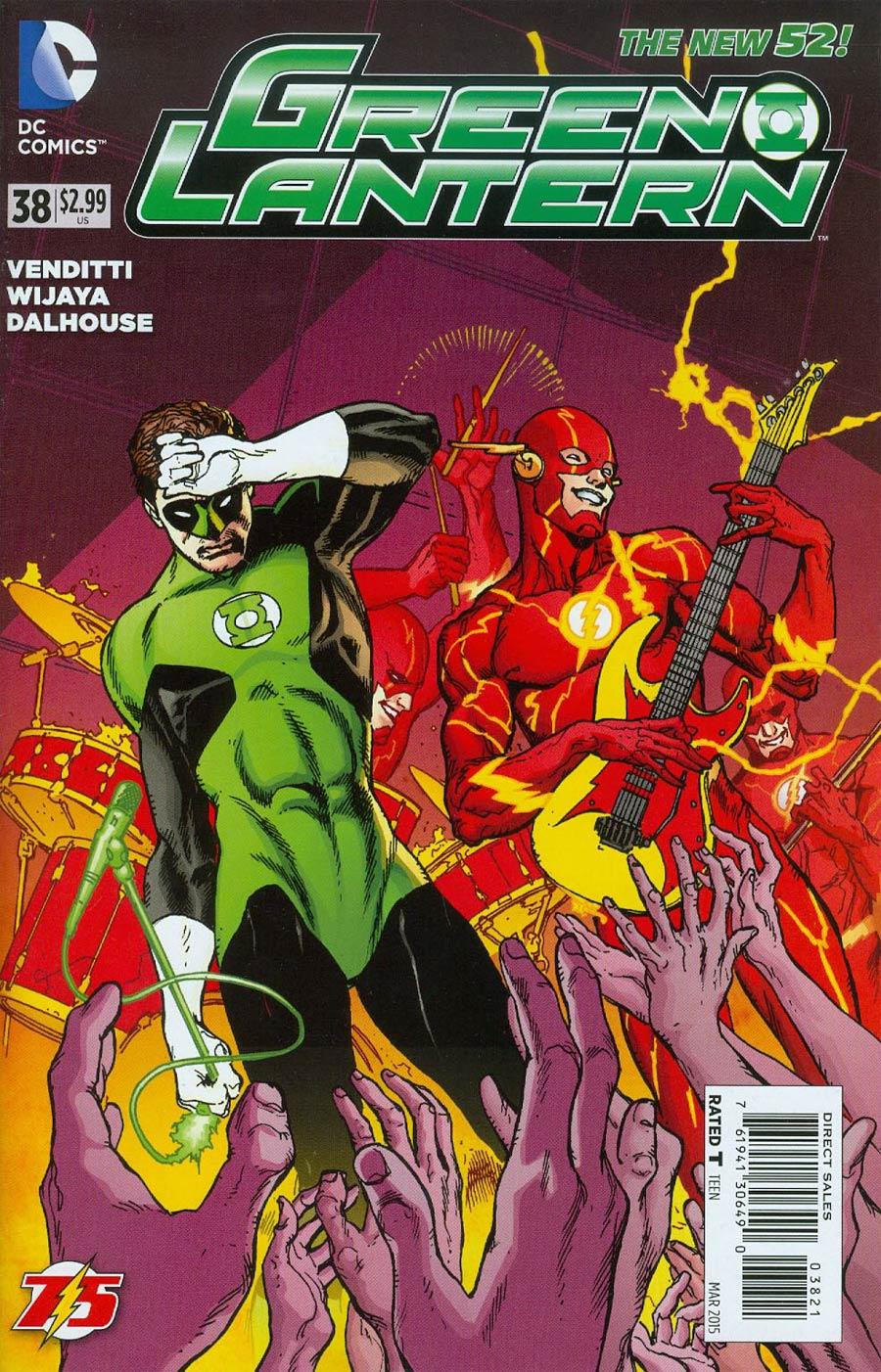 Green Lantern Vol 5 #38 Cover B Variant Doug Mahnke Flash 75th Anniversary Cover