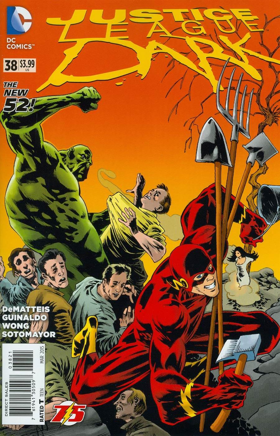 Justice League Dark #38 Cover B Variant Kelley Jones Flash 75th Anniversary Cover