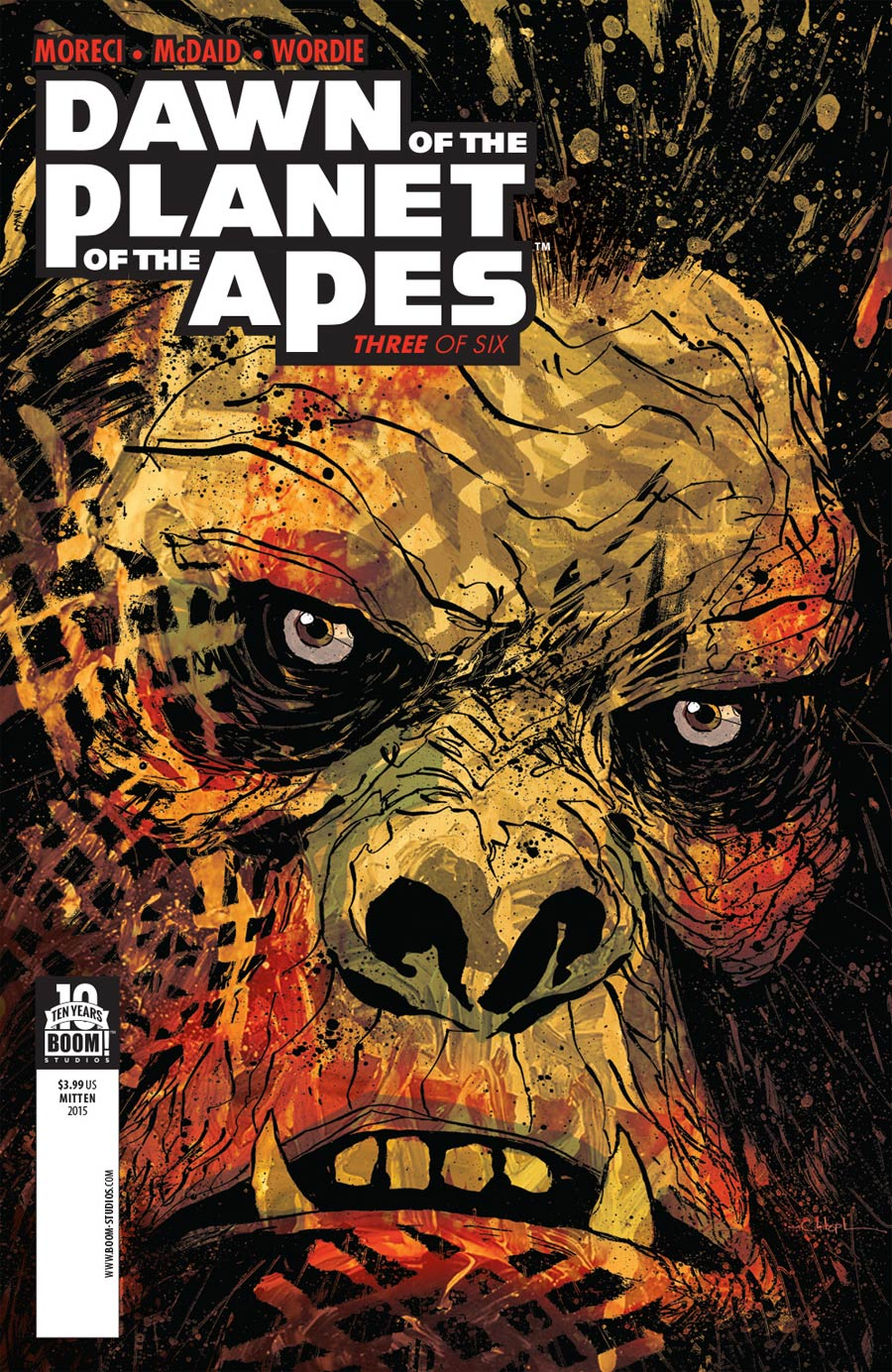 Dawn Of The Planet Of The Apes #3 Cover A Regular Christopher Mitten Cover