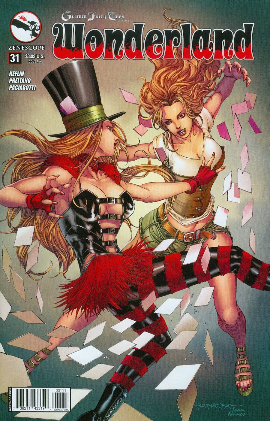 Grimm Fairy Tales Presents Wonderland Vol 2 #31 Cover A Harvey Tolibao & Ivan Nunes