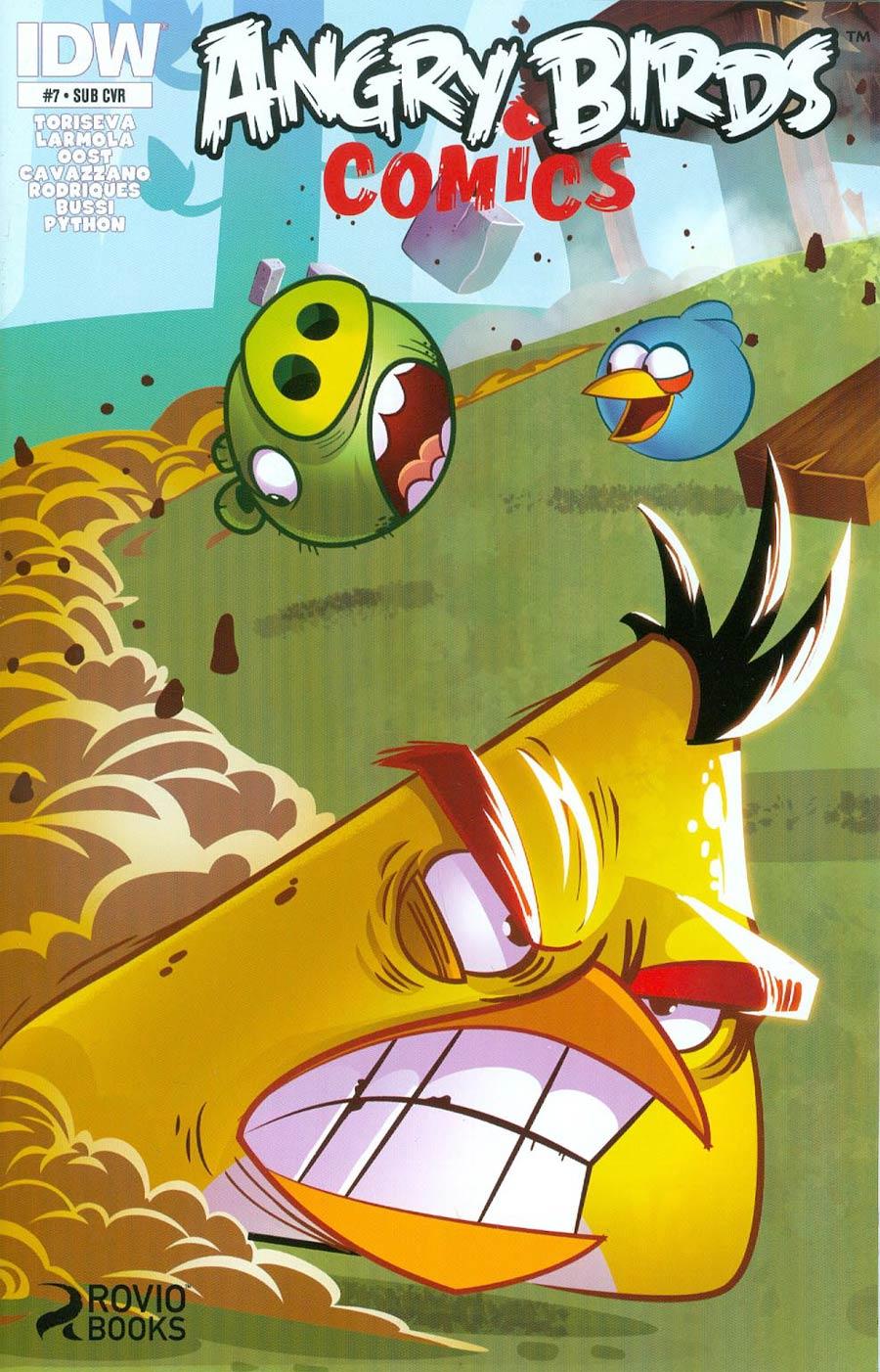 Angry Birds Comics #7 Cover B Variant Jarrod Gecek Subscription Cover