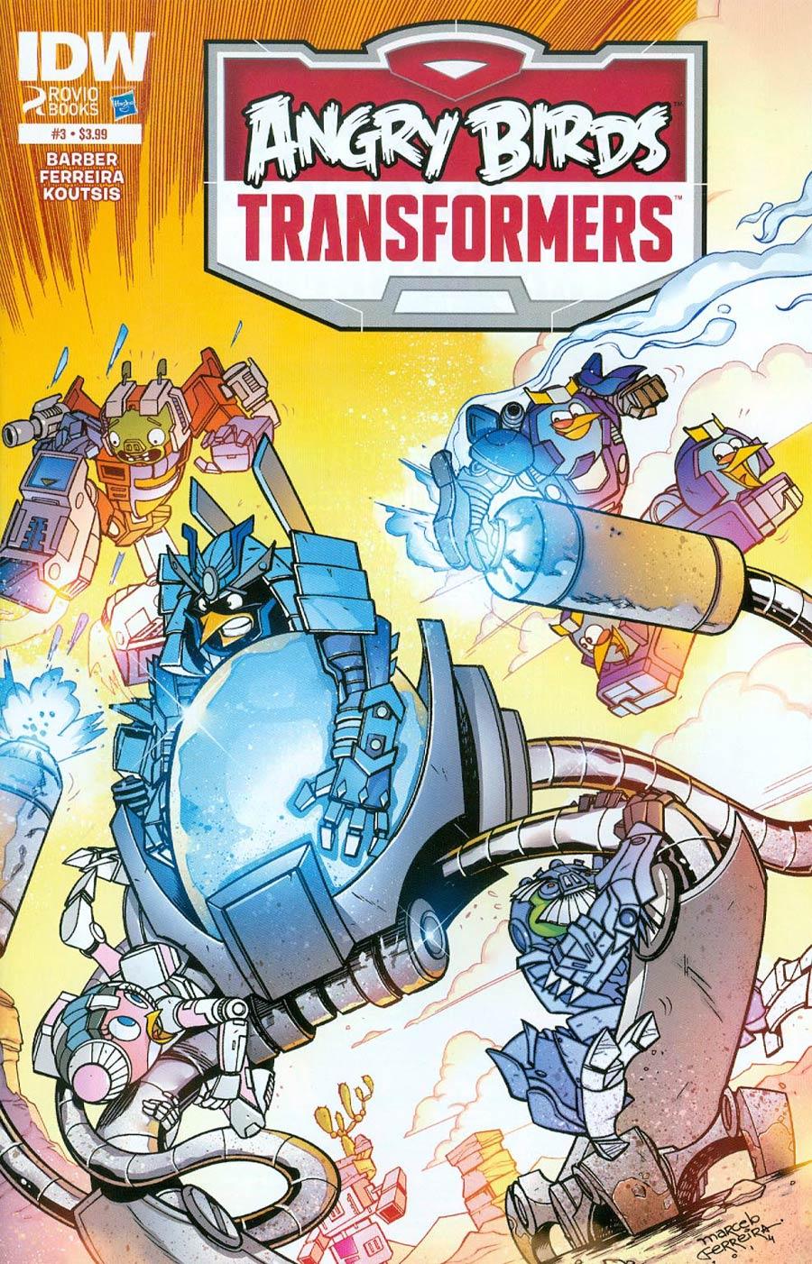 Angry Birds Transformers #3 Cover A Regular Marcelo Ferreira Cover