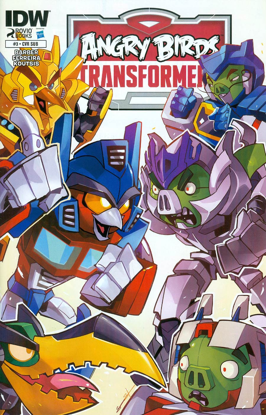 Angry Birds Transformers #3 Cover B Variant Sarah Stone Subscription Cover