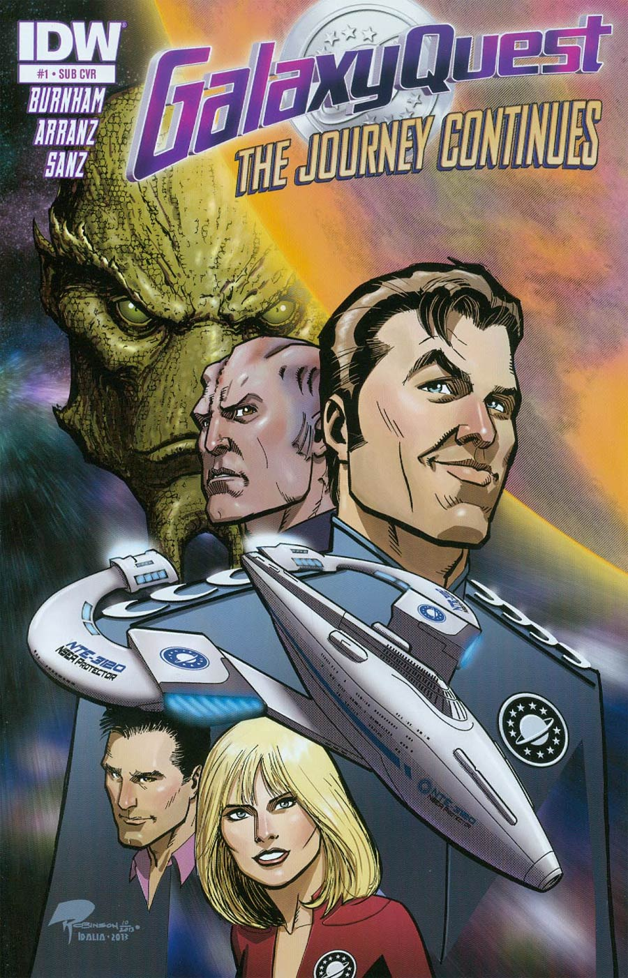 Galaxy Quest Journey Continues #1 Cover B Variant Roger Robinson Subscription Cover