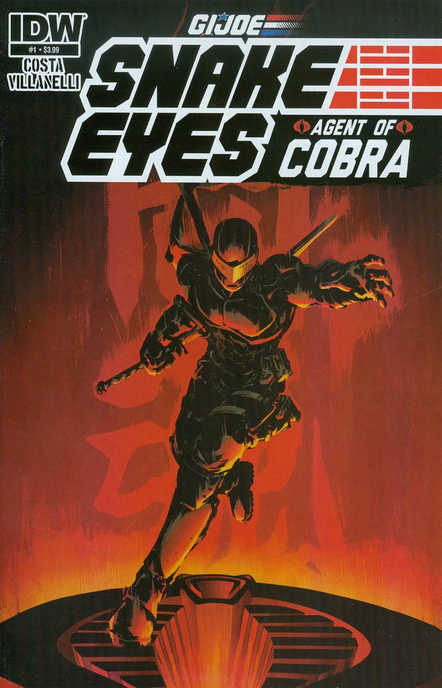 GI Joe Snake Eyes Agent Of Cobra #1 Cover A Regular Paolo Villanelli Cover