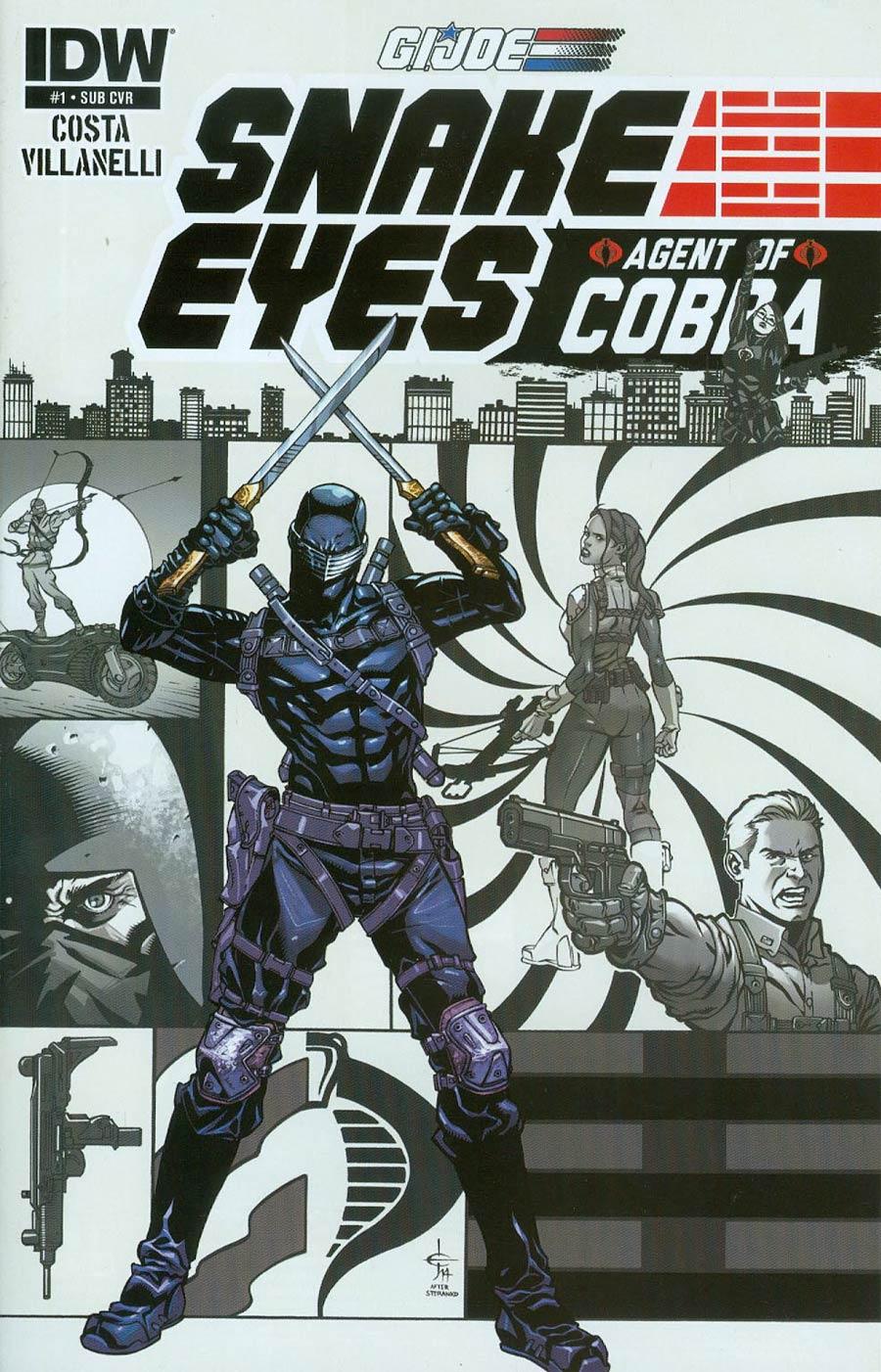GI Joe Snake Eyes Agent Of Cobra #1 Cover B Variant Drew Johnson Subscription Cover