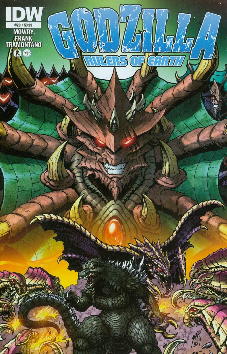 Godzilla Rulers Of The Earth #20 Cover A Regular Matt Frank Cover