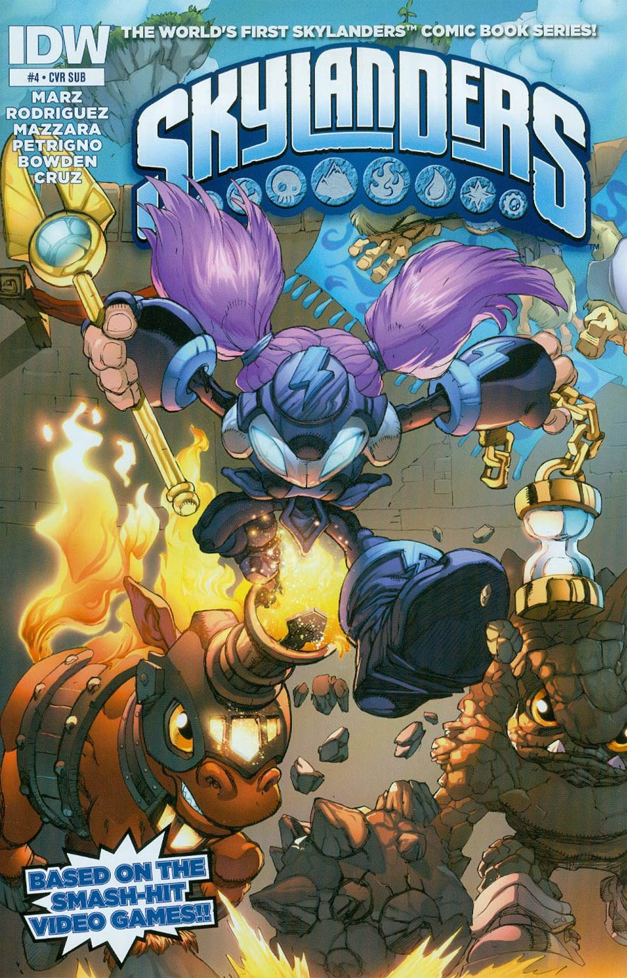 Skylanders #4 Cover B Variant Mike Bowden Subscription Cover