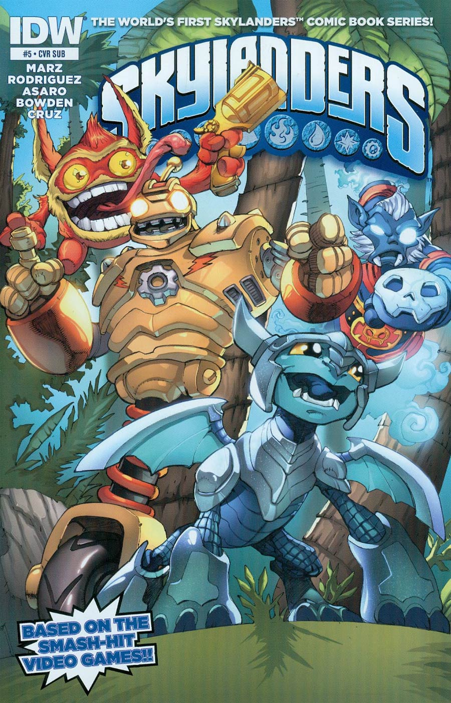 Skylanders #5 Cover B Variant Mike Bowden Subscription Cover