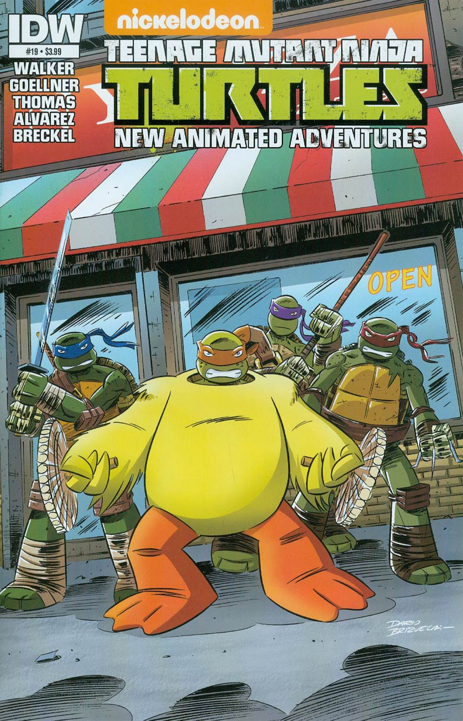 Teenage Mutant Ninja Turtles New Animated Adventures #19 Cover A Regular Dario Brizuela Cover