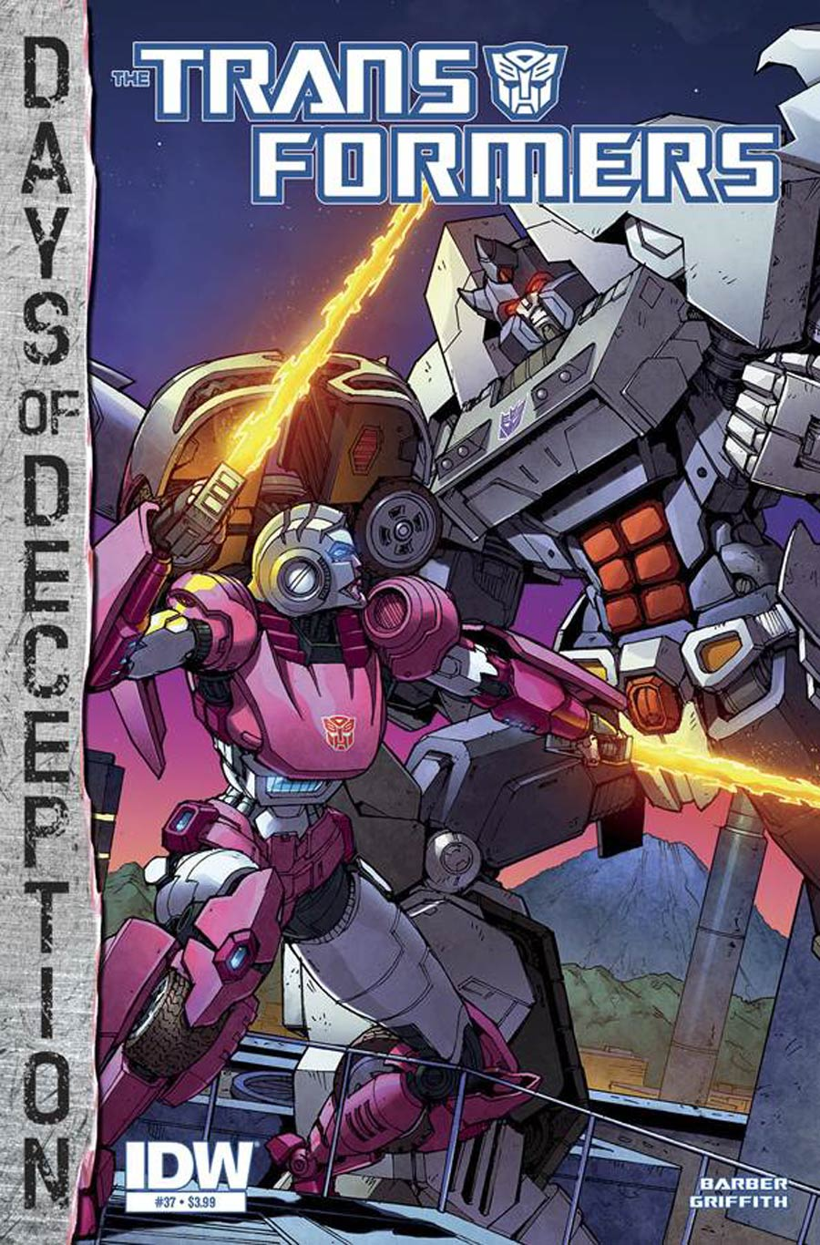 Transformers Vol 3 #37 Cover A Regular Andrew Griffith Cover (Days Of Deception Tie-In)