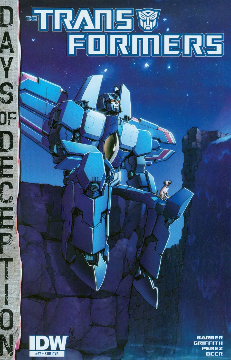 Transformers Vol 3 #37 Cover B Variant Casey W Coller Subscription Cover (Days Of Deception Tie-In)