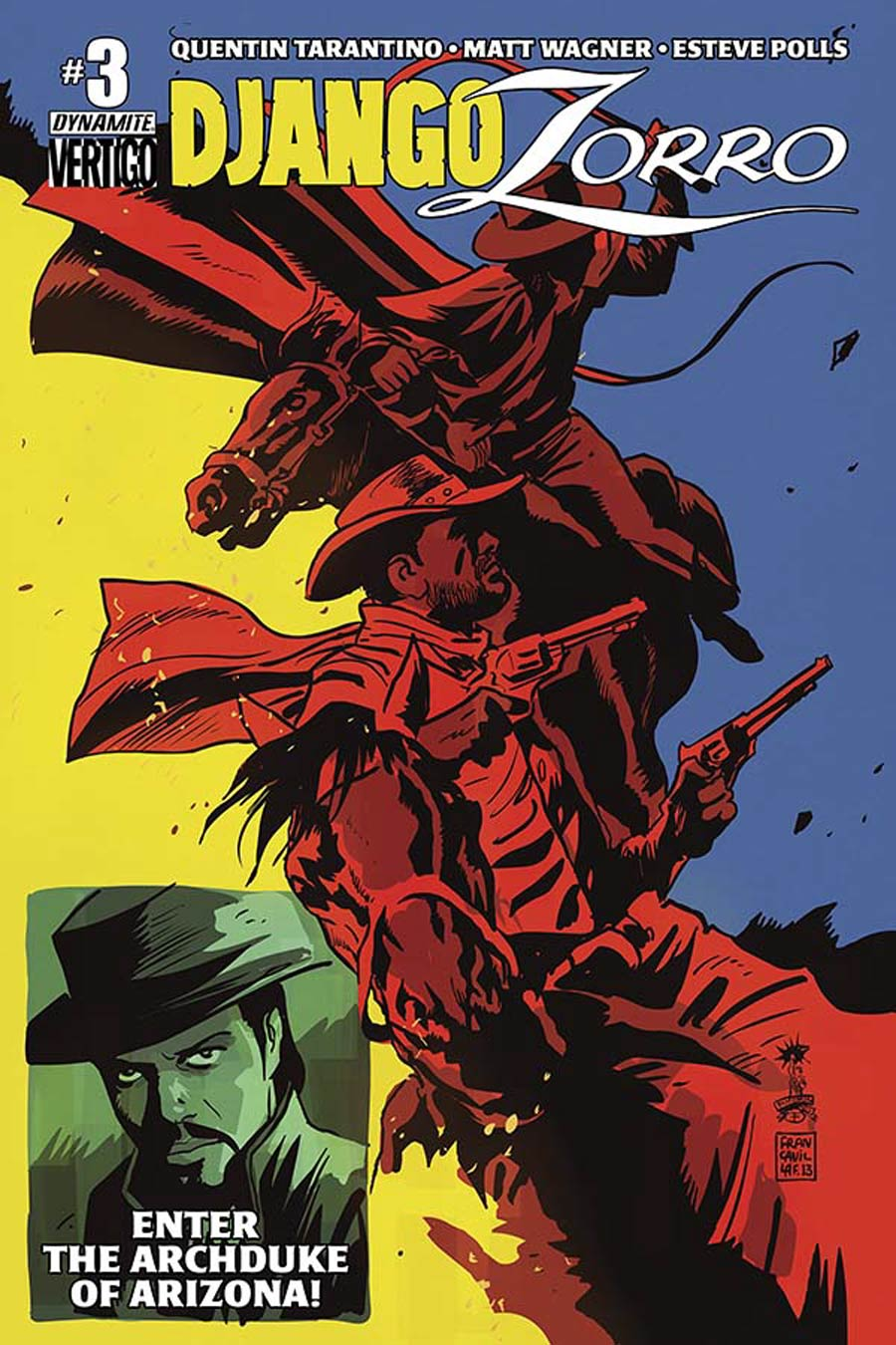 Django Zorro #3 Cover B Variant Francesco Francavilla Cover