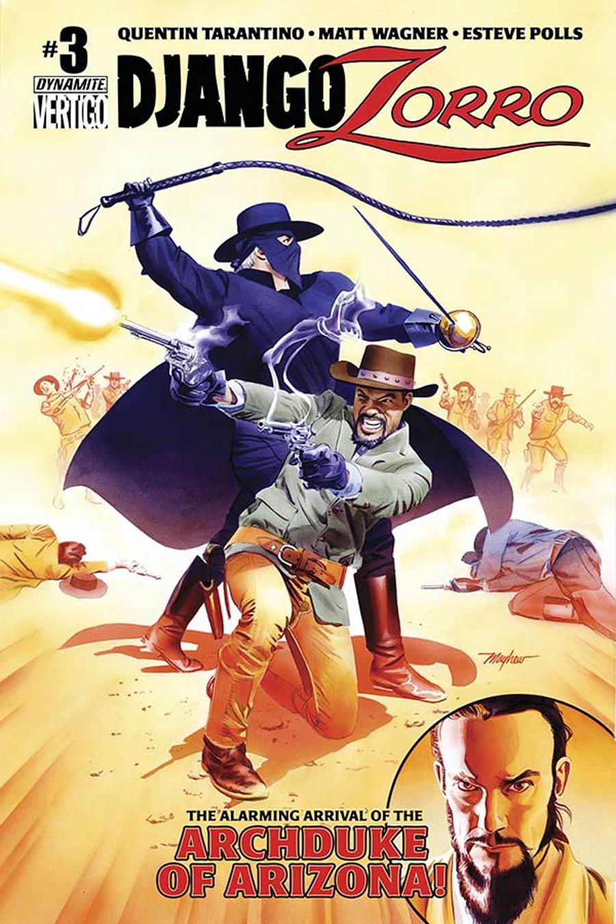 Django Zorro #3 Cover C Variant Mike Mayhew Subscription Cover