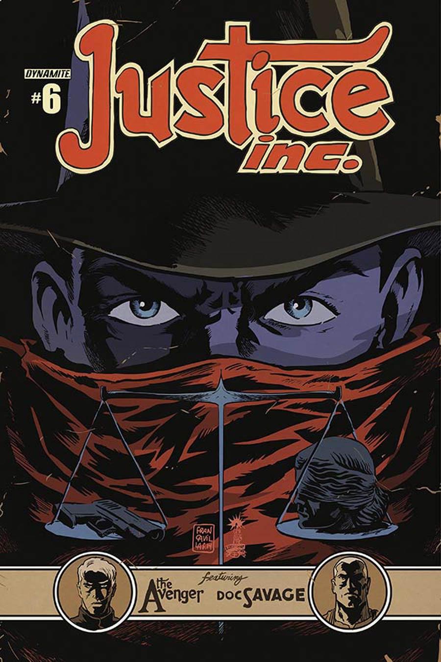 Justice Inc Vol 3 #6 Cover B Variant Francesco Francavilla Cover