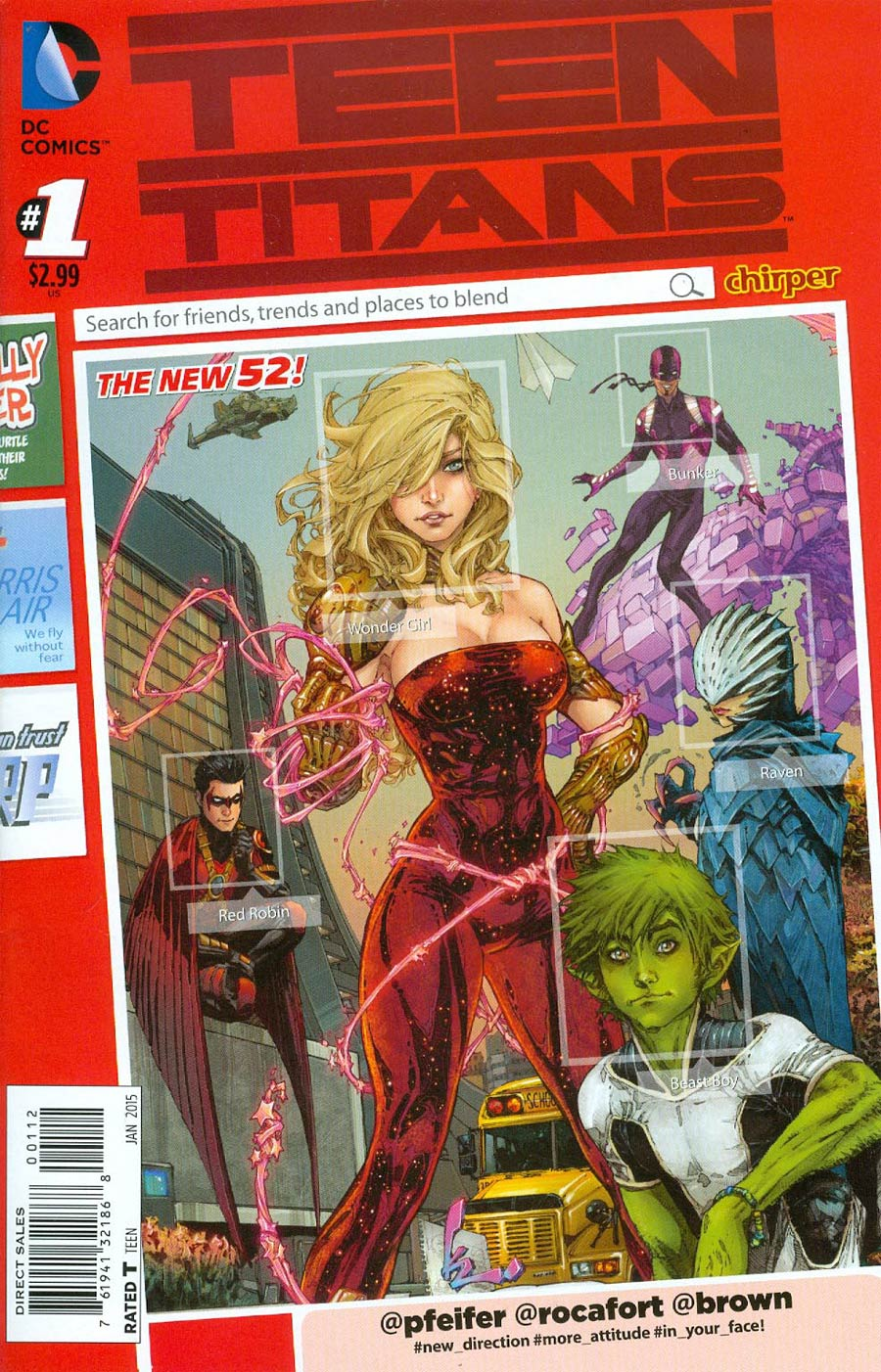 Teen Titans Vol 5 #1 Cover D 2nd Ptg Kenneth Rocafort Variant Cover