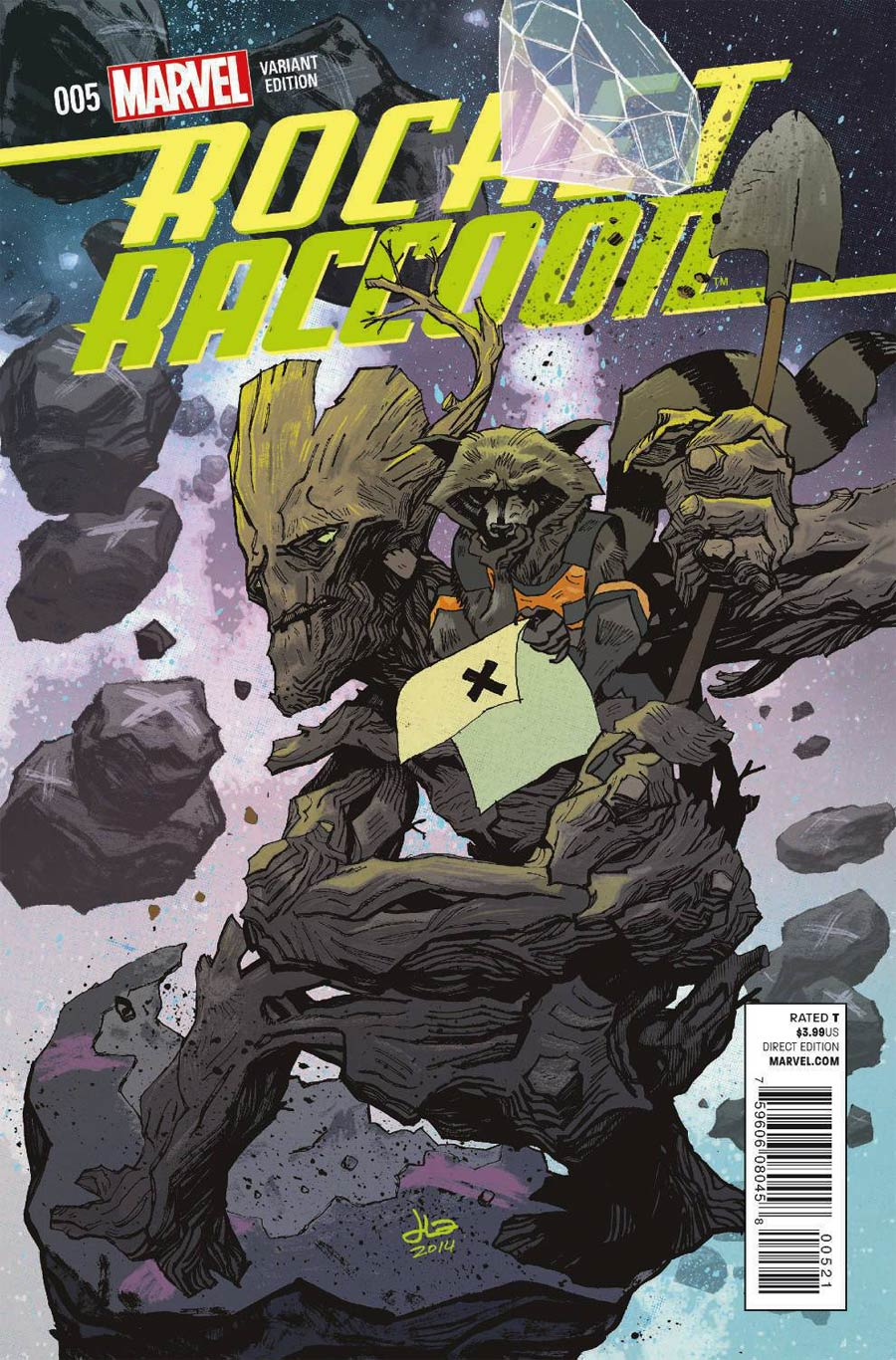 Rocket Raccoon Vol 2 #5 Cover B Variant Rocket Raccoon & Groot Cover