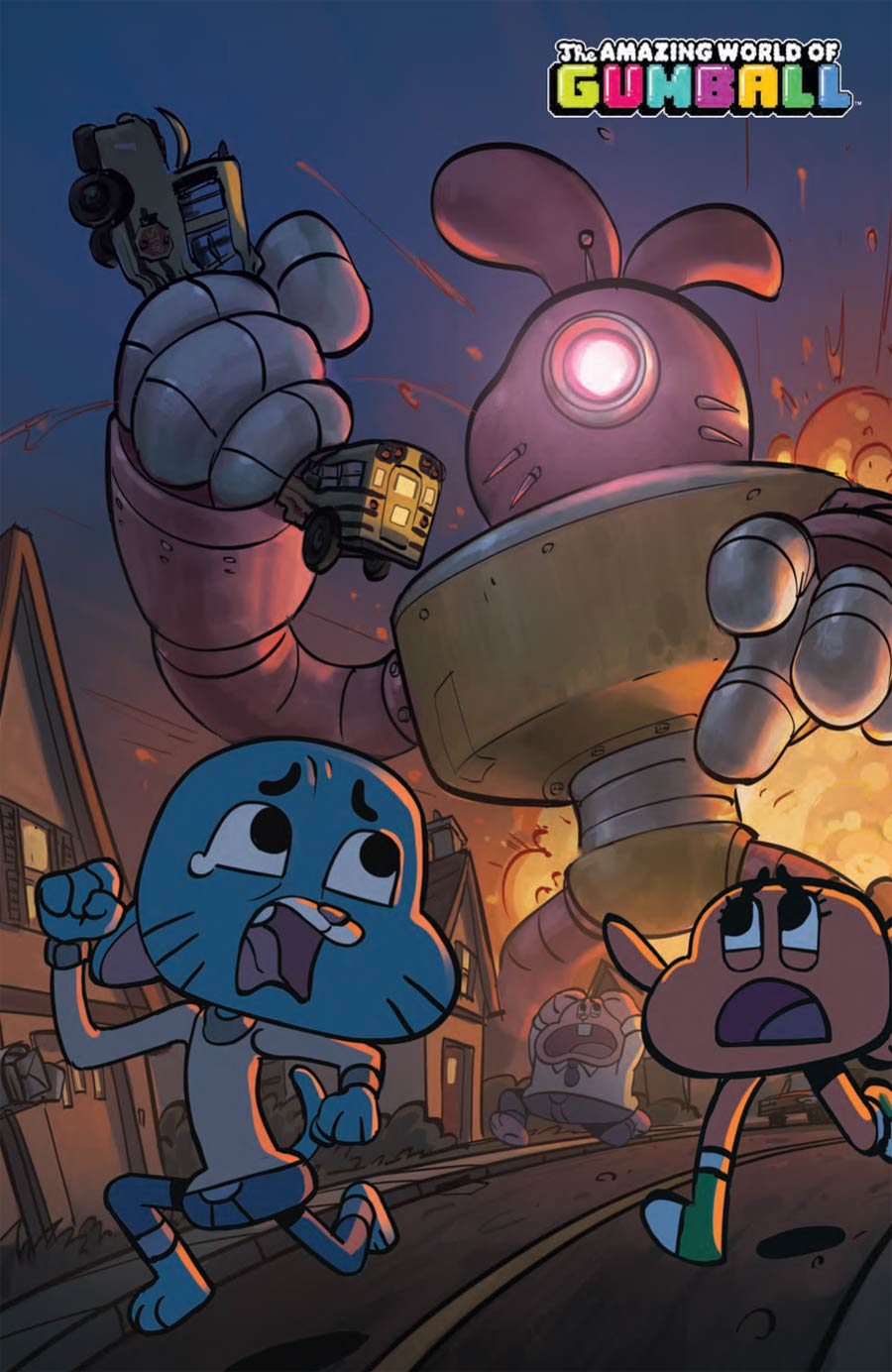 Amazing World Of Gumball #4 Cover C Incentive Justin Oaksford Virgin Variant Cover