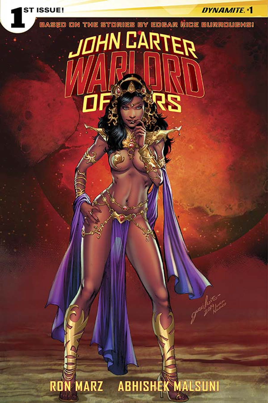 John Carter Warlord Of Mars Vol 2 #1 Cover K Incentive Lose Luis Variant Cover