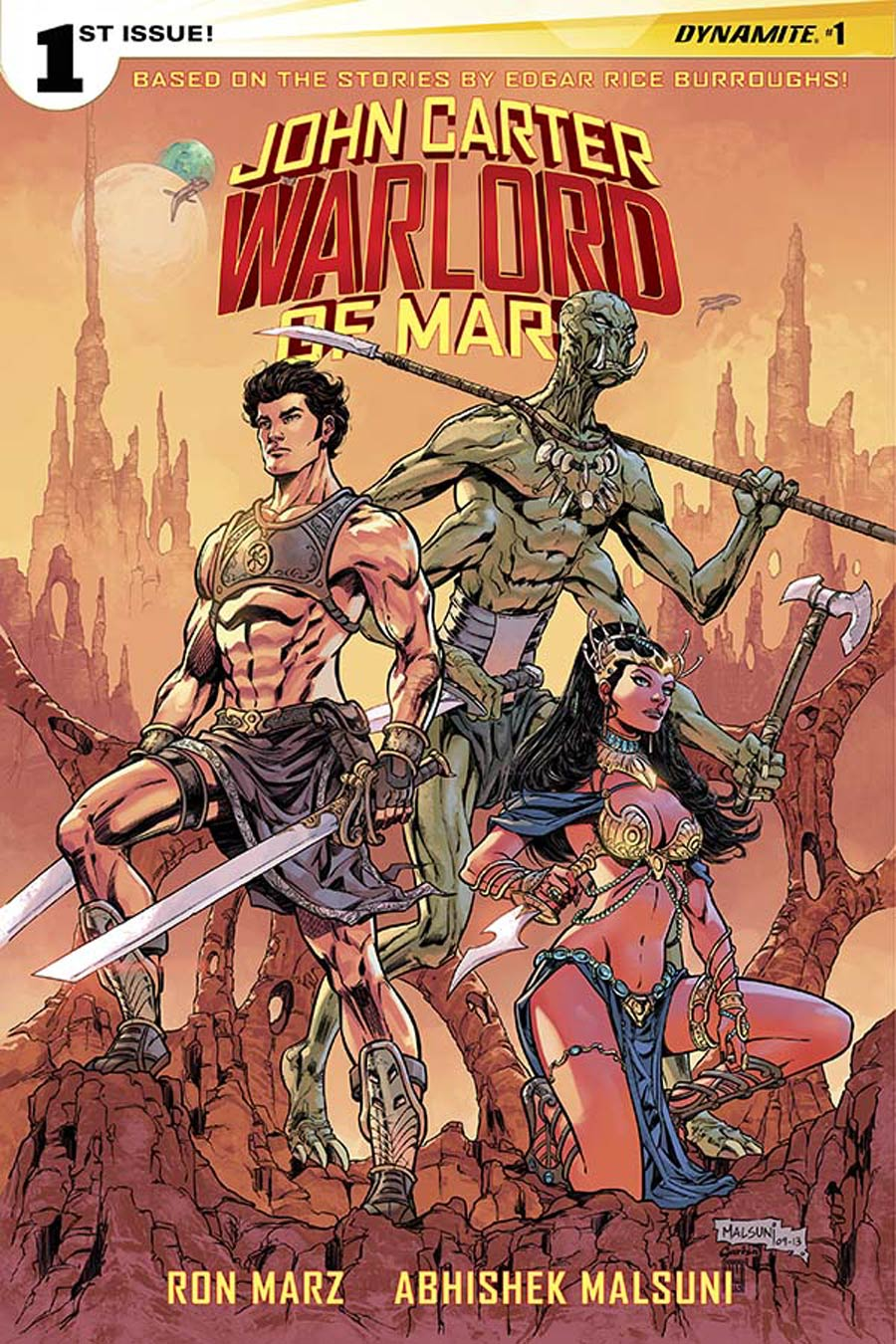 John Carter Warlord Of Mars Vol 2 #1 Cover L Incentive Abhishek Malsuni Variant Cover