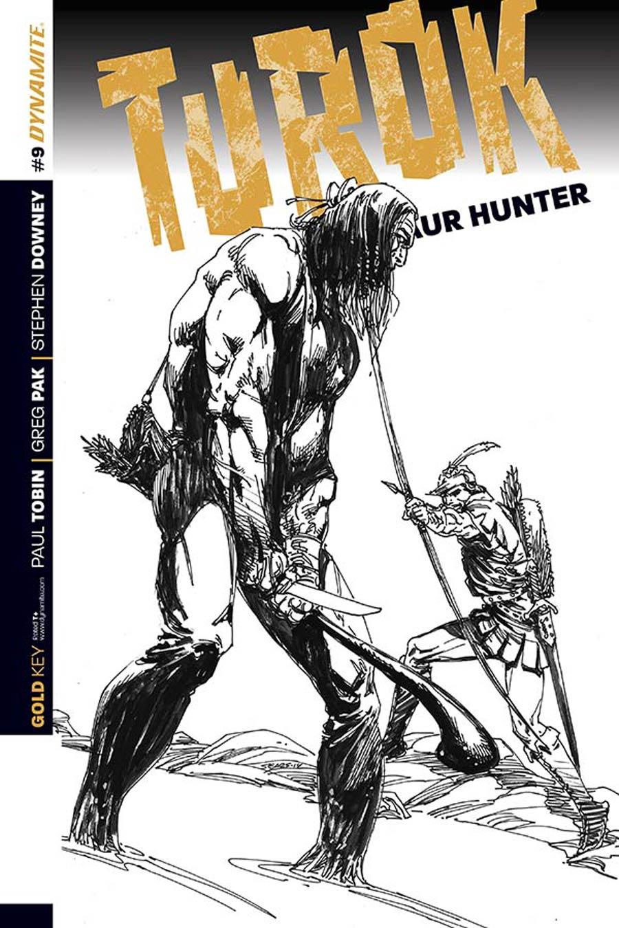 Turok Dinosaur Hunter Vol 2 #9 Cover C Incentive Bart Sears Black & White Cover