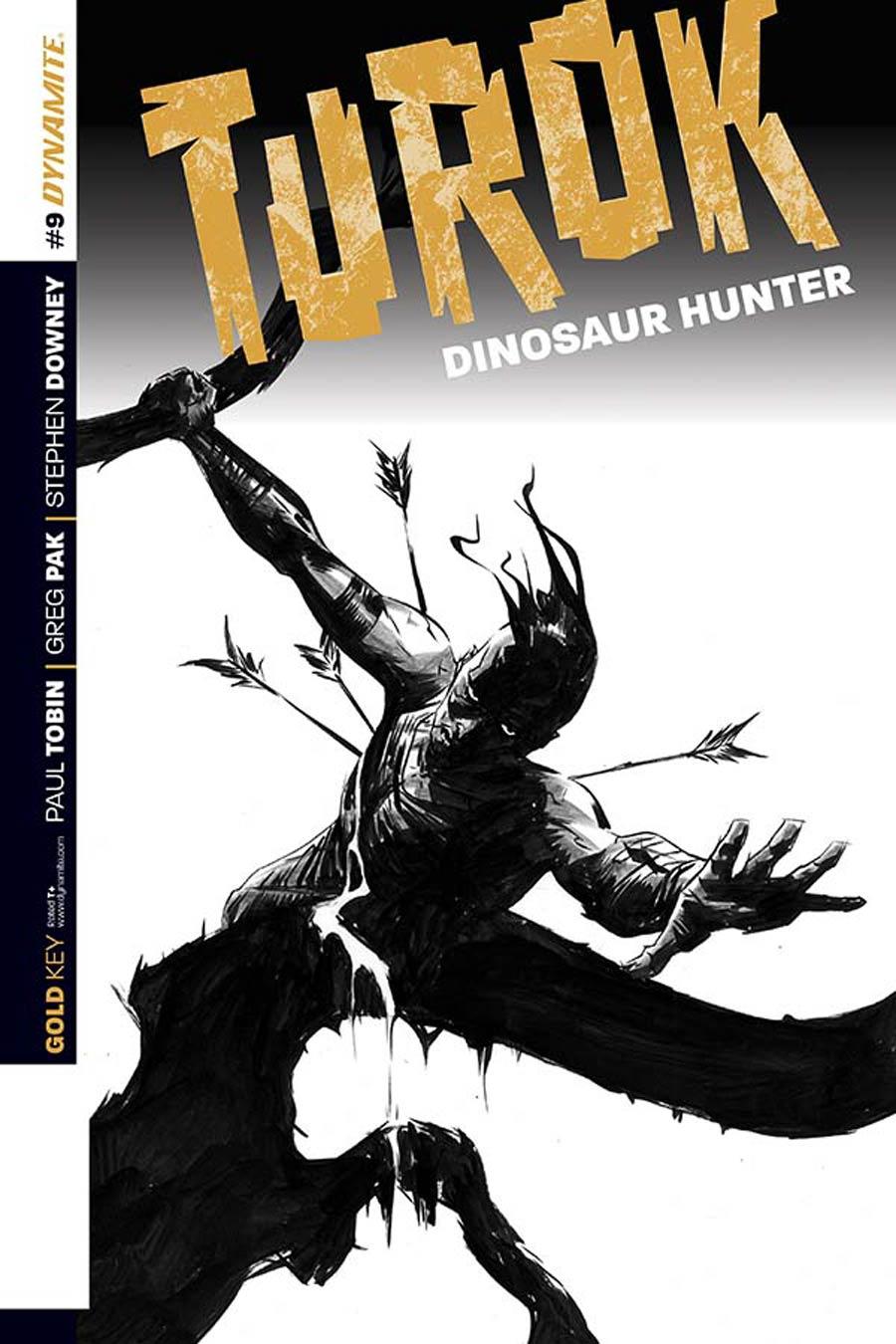 Turok Dinosaur Hunter Vol 2 #9 Cover D Incentive Jae Lee Black & White Cover
