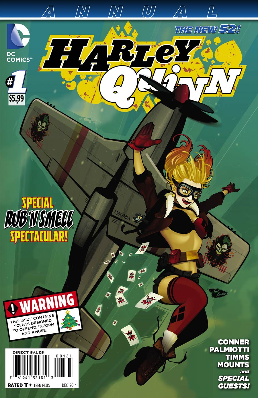 Harley Quinn Vol 2 Annual #1 Cover F Variant DC Bombshells Cover International Edition Without Polybag