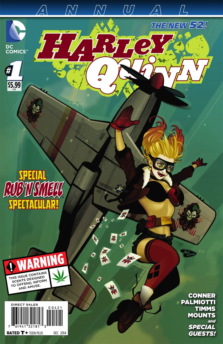 Harley Quinn Vol 2 Annual #1 Cover H Variant DC Bombshells Cover USA Edition Without Polybag