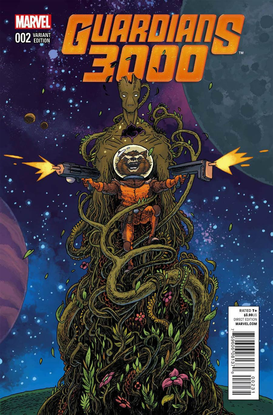 Guardians 3000 #2 Cover B Variant Rocket Raccoon & Groot Cover