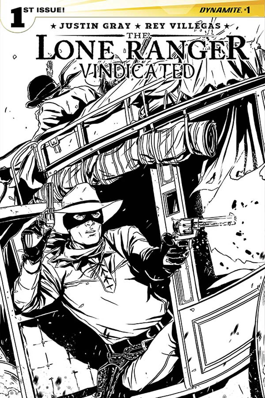 Lone Ranger Vindicated #1 Cover C Incentive Marc Laming Black & White Cover