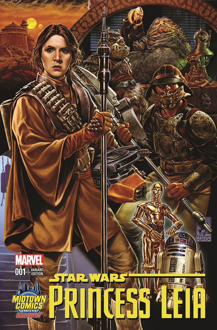 Princess Leia #1 Cover B Midtown Exclusive Mark Brooks Connecting Color Variant Cover (Part 3 of 3)