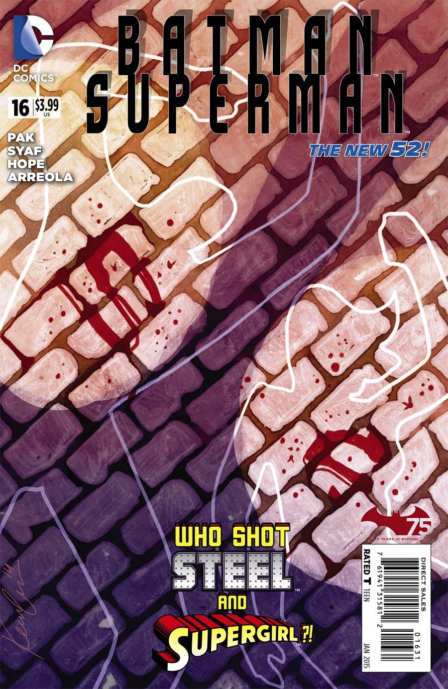 Batman Superman #16 Cover E Incentive Kevin Wada Variant Cover