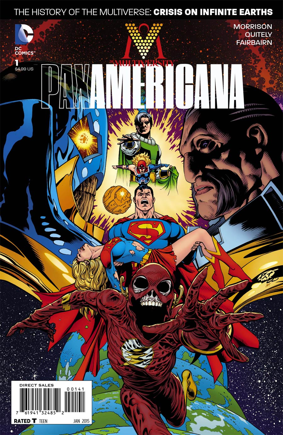 Multiversity Pax Americana #1 Cover D Incentive Patrick Gleason Variant Cover