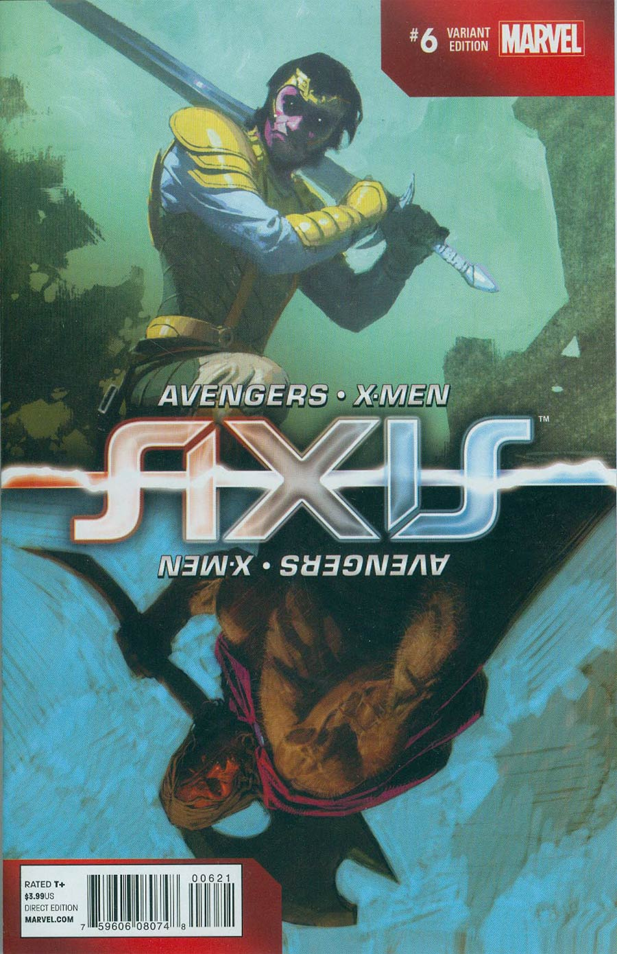 Avengers & X-Men AXIS #6 Cover C Incentive Inversion Variant Cover
