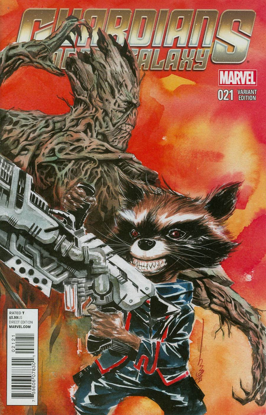 Guardians Of The Galaxy Vol 3 #21 Cover B Variant Rocket Raccoon & Groot Cover