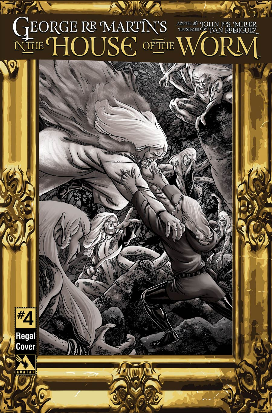 George RR Martin In The House Of The Worm #4 Cover D Incentive Regal Cover