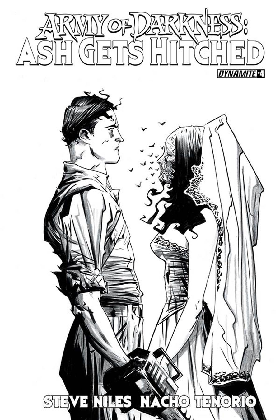 Army Of Darkness Ash Gets Hitched #4 Cover D Incentive Jae Lee Black & White Cover