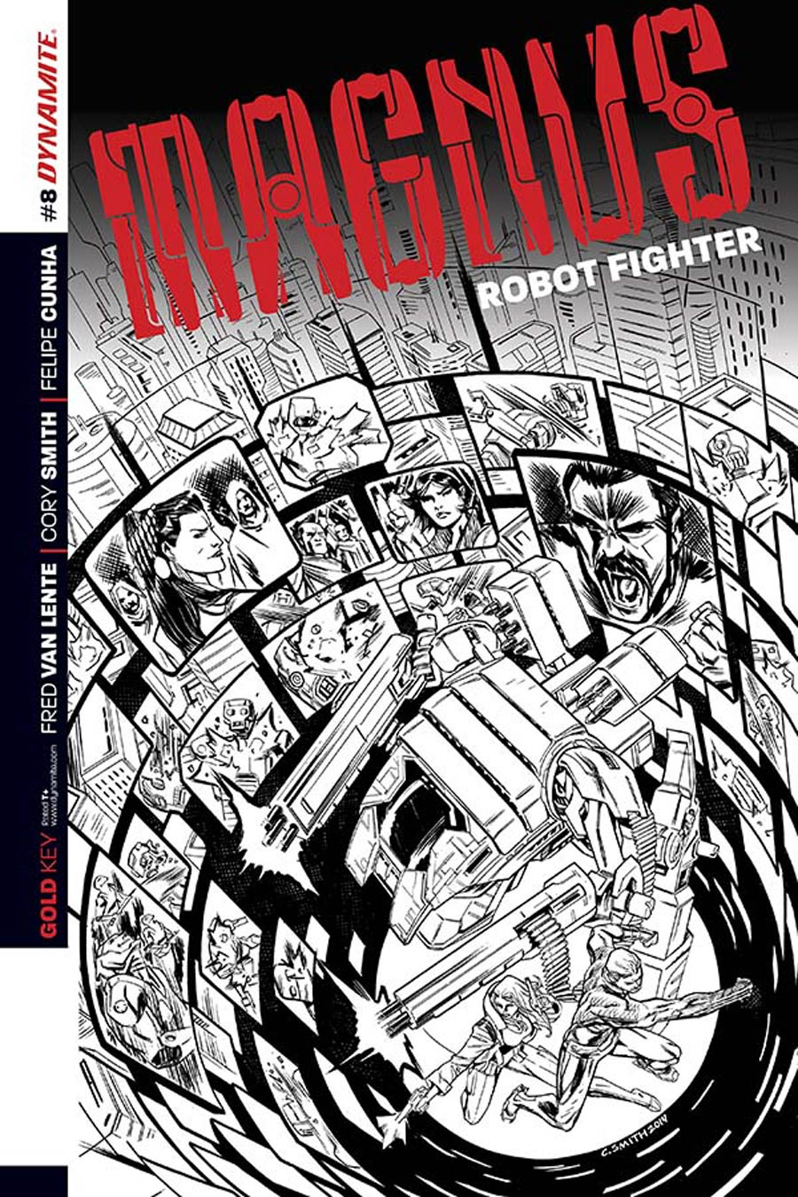 Magnus Robot Fighter Vol 4 #8 Cover D Incentive Cory Smith Black & White Cover