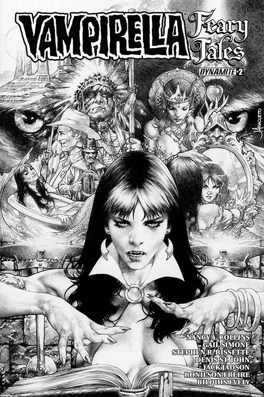 Vampirella Feary Tales #2 Cover D Incentive Jay Anacleto Black & White Cover