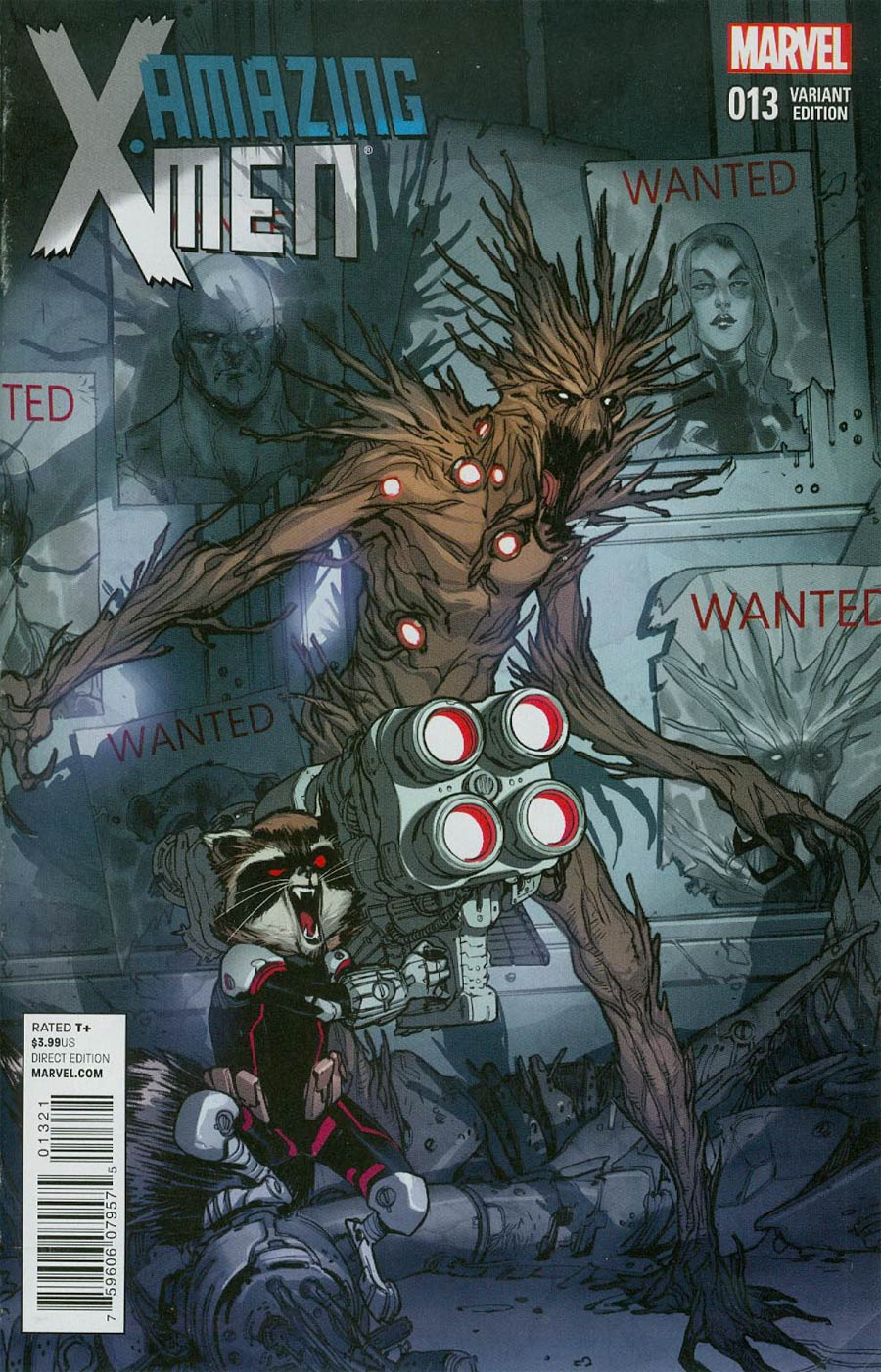 Amazing X-Men Vol 2 #13 Cover B Variant Rocket Raccoon & Groot Cover