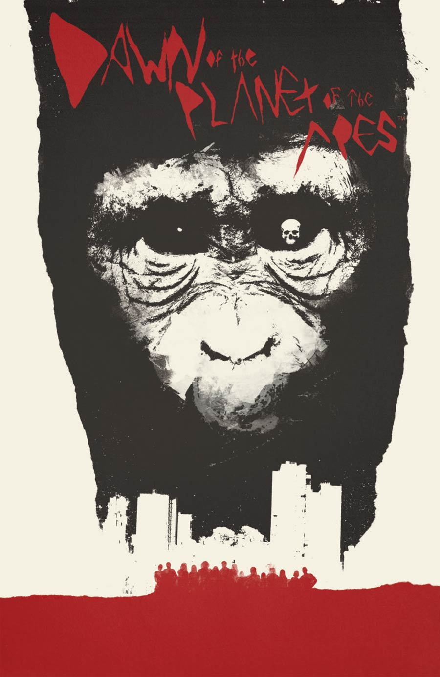 Dawn Of The Planet Of The Apes #1 Cover B Incentive Jay Shaw Virgin Variant Cover