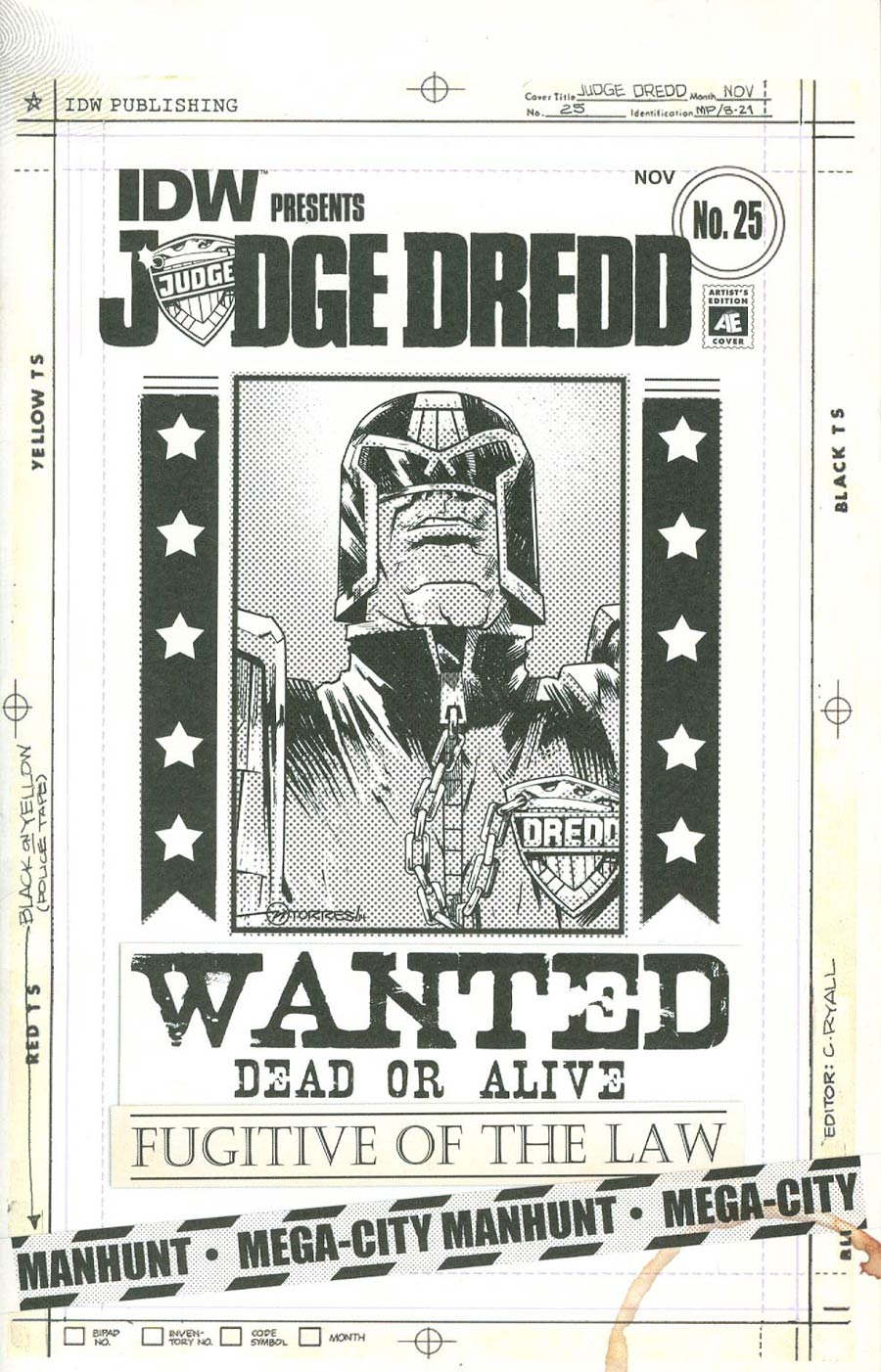 Judge Dredd Vol 4 #25 Cover C Incentive Mark Torres Artists Edition Variant Cover