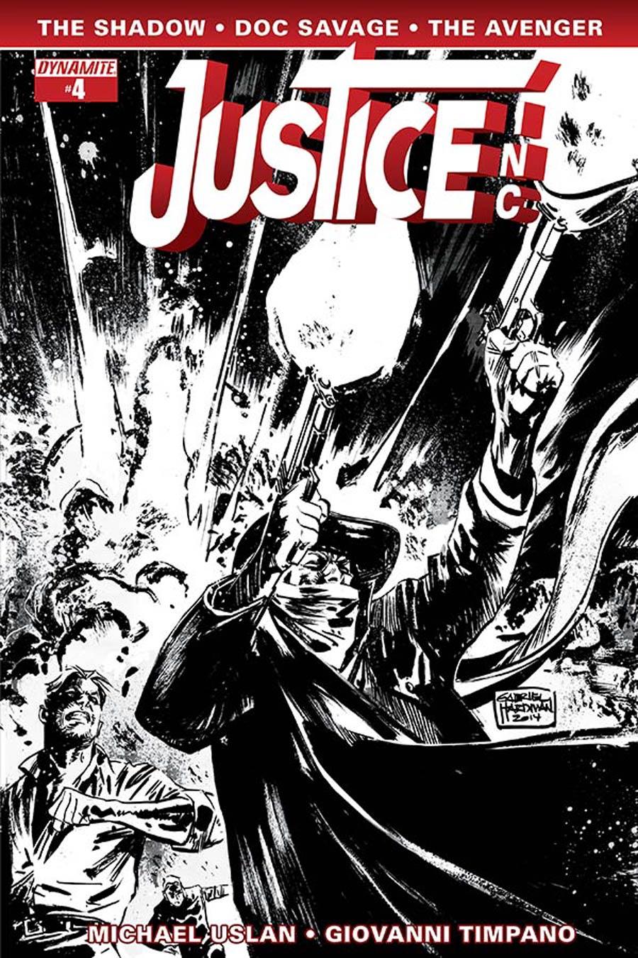 Justice Inc Vol 3 #4 Cover E Incentive Gabriel Hardman Black & White Cover
